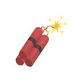 dynamite bomb explosion with burning wick mining vector image
