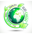 Ecology Green conceptual background with green vector image