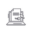 electronic signature of the contract line icon vector image vector image