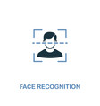 face recognition icon in two colors premium vector image