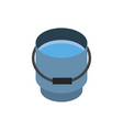 farm water bucket rural isometric icon vector image