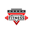 fitness badge sport logo vector image vector image