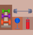 fitness gym sporty club icons athlet and vector image