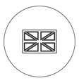 flag united kingdom icon black color in circle vector image