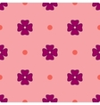 Flowers geometric seamless pattern 1605 vector image vector image