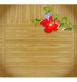 flowers on wooden background with p vector image