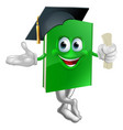 graduate education book mascot vector image