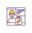 gun dealer rgb color icon vector image vector image