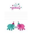 happy birthday celebration card icon vector image vector image