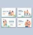 happy families landing pages active parents vector image