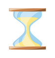 isolated cute sand watch vector image vector image