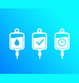 iv bags icons vector image