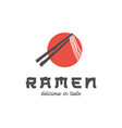 japan ramen noodle logo design inspiration vector image