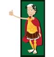 Julius Caesar thumbs up vector image