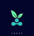 leave template vector image