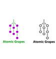 logo atomic grapes vector image vector image