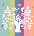 love and nature tree vector image