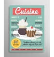 Magazine cover template Food blogging layer vector image