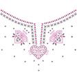 Neckline design fashion vector image