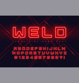 neon industrial style display typeface vector image vector image
