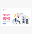 office work flat vector image vector image