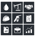 Petroleum industry icon collection vector image vector image