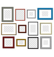 photo frame wall picture different color frames vector image vector image