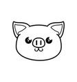 pig kawaii cartoon vector image