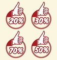 popust thumbs up2 vector image vector image