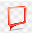 red frame rectangular discount sticker vector image vector image