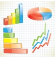 set business charts vector image vector image