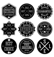 set hipster sale labels monochrome typographic vector image vector image
