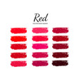 set of various lipstick smears 2 vector image vector image