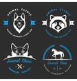 set vintage logos for vet clinic vector image