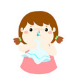 sick girl runny nose cartoon vector image vector image