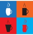 Simple coffee cup icons vector image vector image