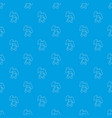 soft toy pattern seamless blue vector image vector image