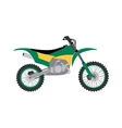 Sport bike silhouette transport power vector image