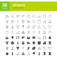 sports line web glyph icons vector image vector image