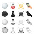 sports putter ball and other web icon in vector image vector image