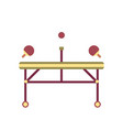 table tennis flat icon vector image vector image