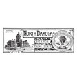 the state banner of north dakota the great cereal vector image vector image