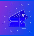 ticket icon get your online vector image