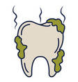 tooth dirty isolated icon vector image vector image