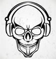 Tribal DJ Skulls vector image
