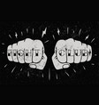 two front view fists with fight club caption vector image