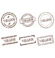 Vegan stamps vector image vector image