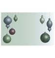 Wallpaper Christmas balls soft vector image vector image