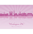 Washington DC V2 skyline in purple radiant orchid vector image vector image