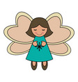 white background with decorative angel vector image